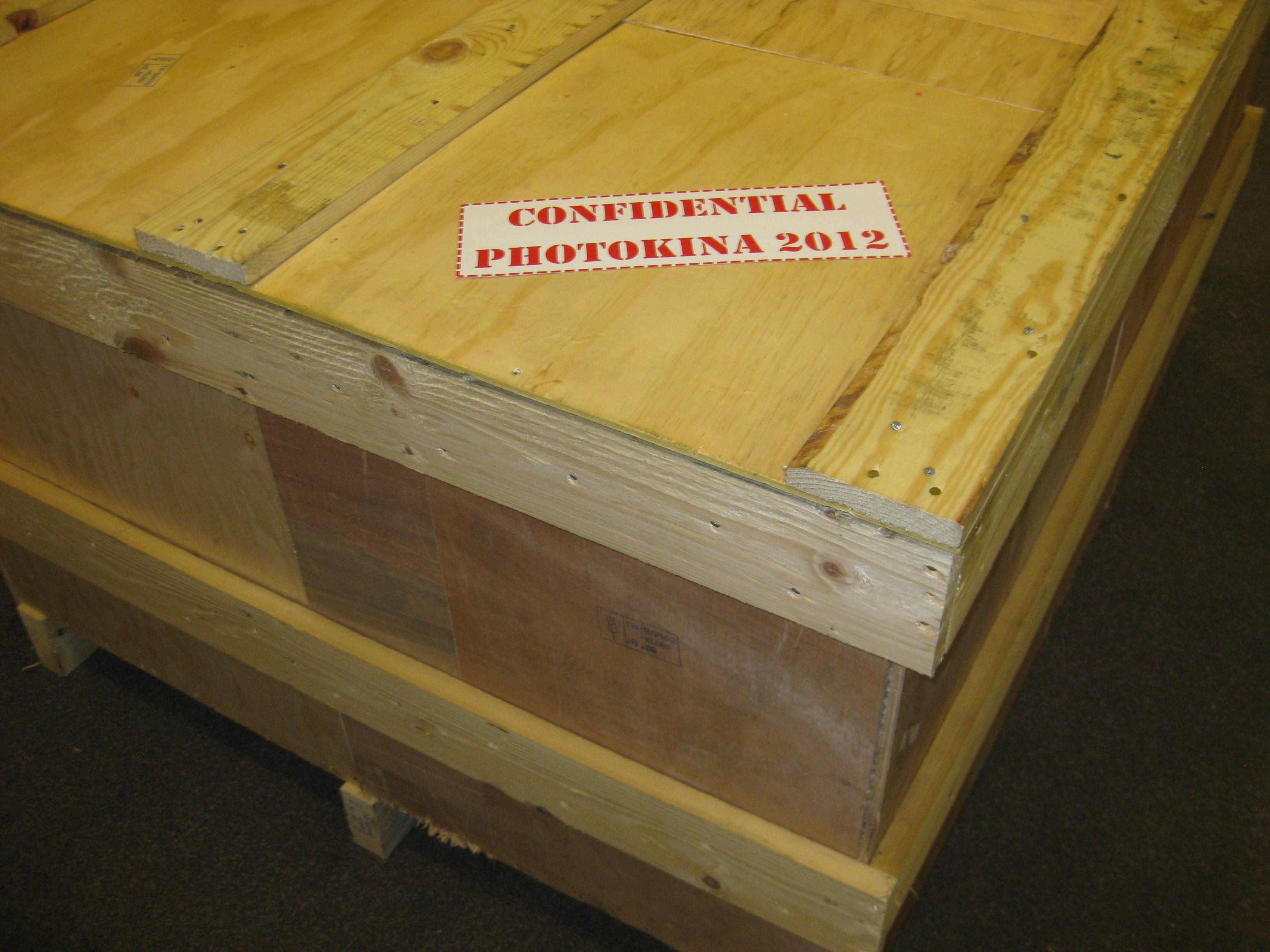 shipping box of an photo machine