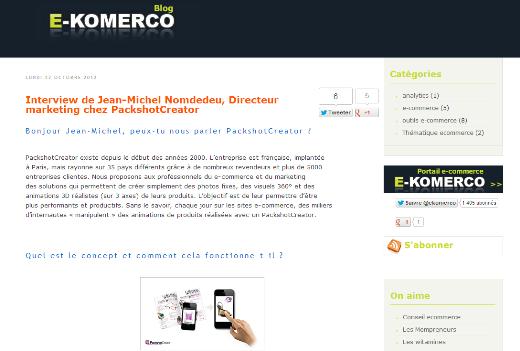 blog de e-komerco interview with marketing director