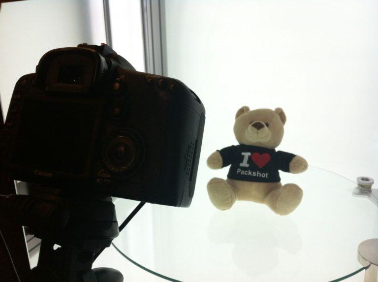 teddybear in an automated photo machine