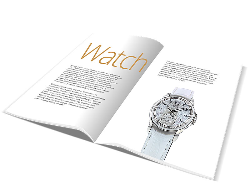 Packshot watch catalog