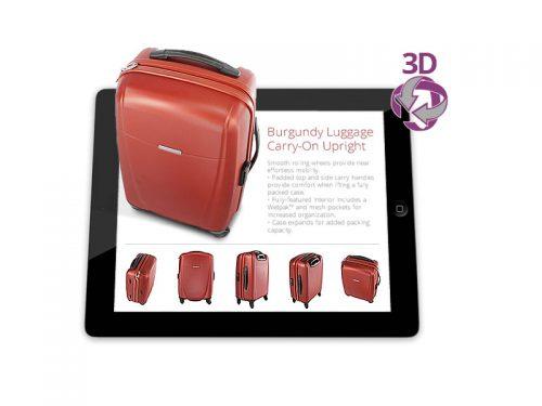 3D rich media packshot