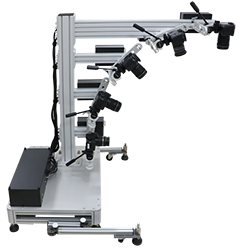 multi arm 3D system with multiple cameras to shoot multi angles at the same time