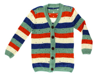 Flat-lay child fashion packshot