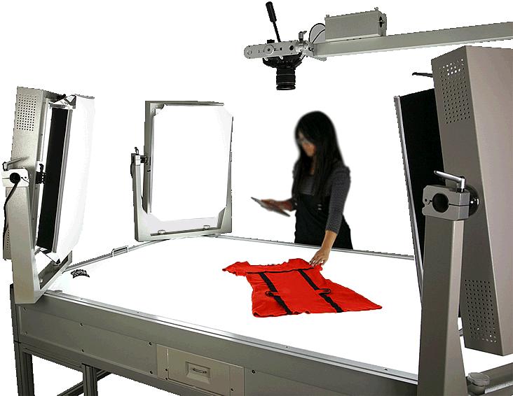 Packshot product photo light table fashion & textiles