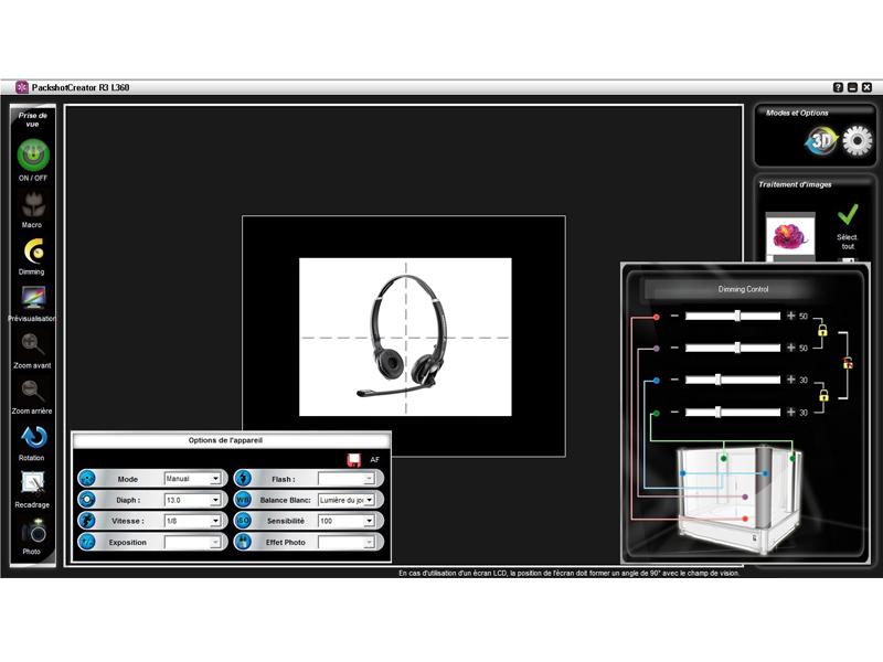 Packshot software tool