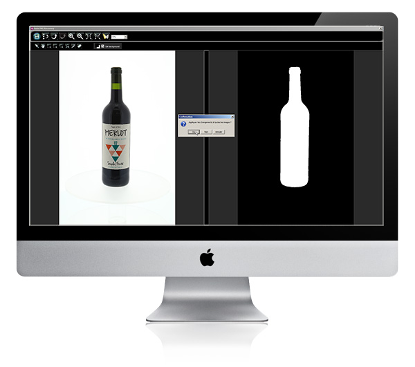 How do you photograph a transparent bottle?