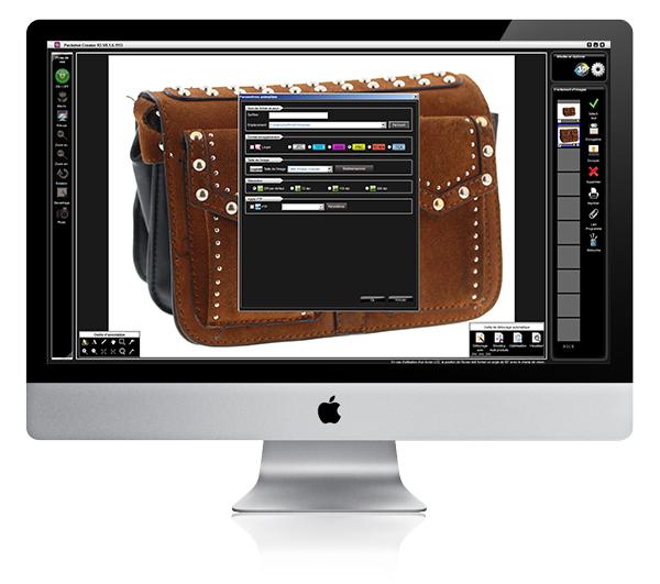 Packshot for handbags, product photo edition