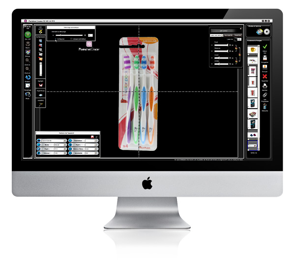 Product photography cropping editor