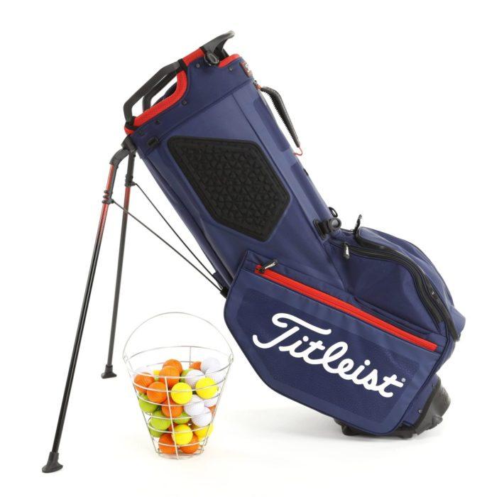 golf bag packshot white background