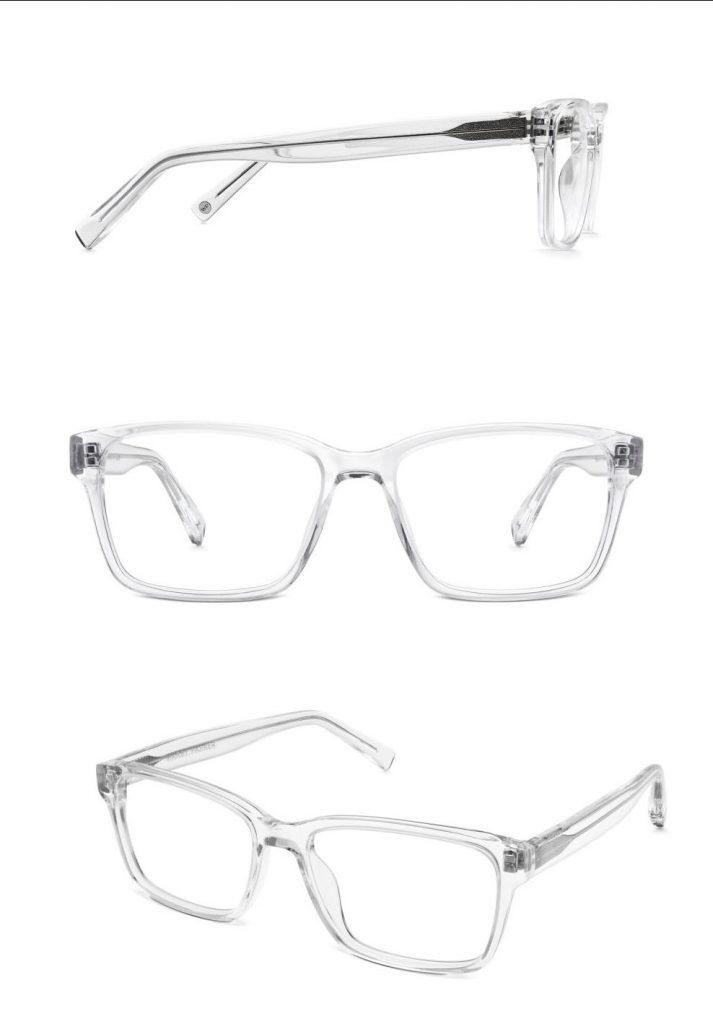 durchisichtige glaser und brillengestelle fotografieren
