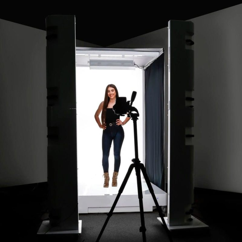 woman in a photo studio