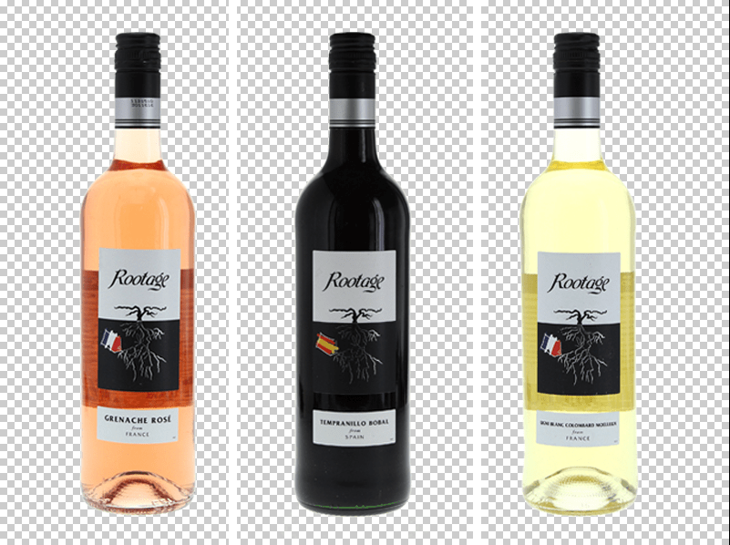 how to crop wine bottles photos
