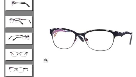 how to display photos of eyeglasses on online stores