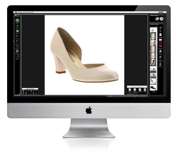 PackshotCreator software to edit photographs of shoes