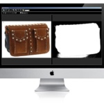 tutorial on how to edit a photograph of leather goods on a software