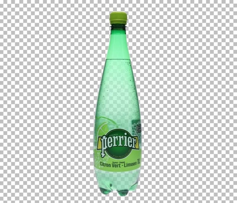 photo of a transparent bottle after AutoMask