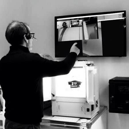 implementation of a photo studio via screensharing