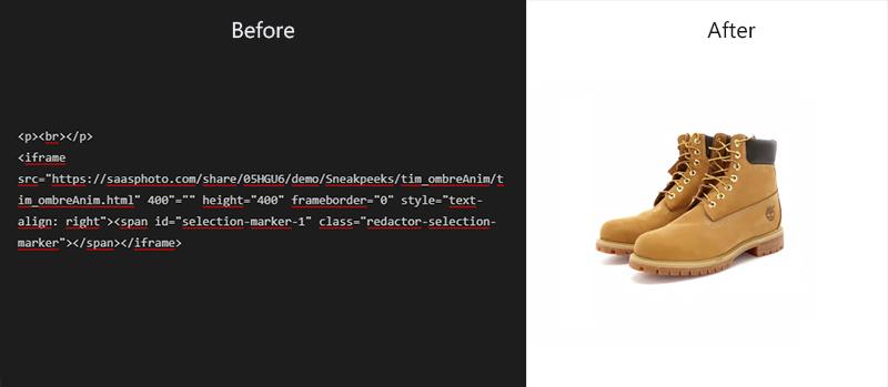 360 product animation HTML5