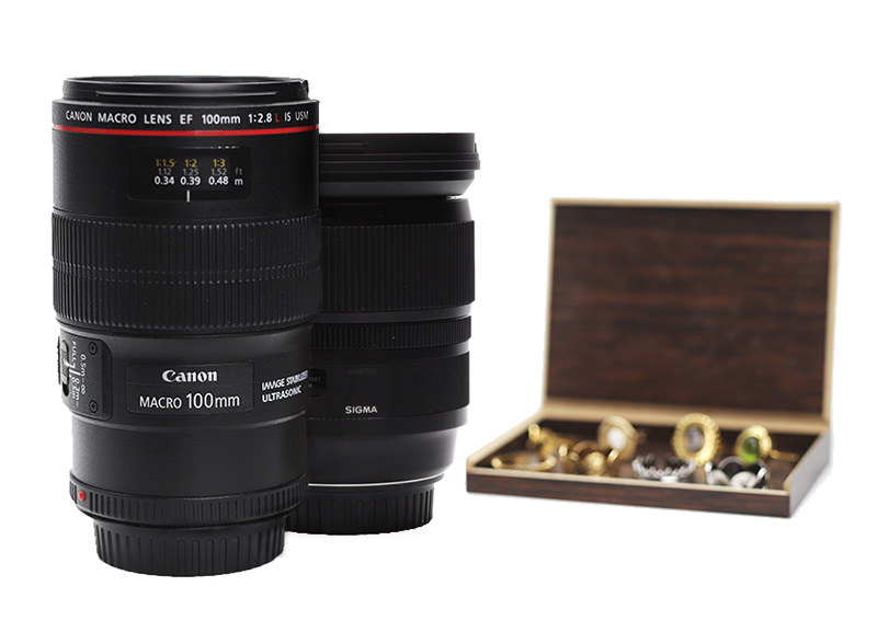 Macro lenses for jewelry product photography