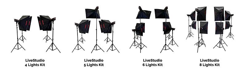 LiveStudio different lighting kits