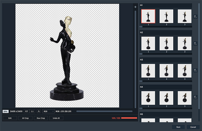 creating a 3D animation of antique with AutoMask