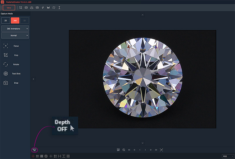 how to correctly focus a diamond for brilliance view