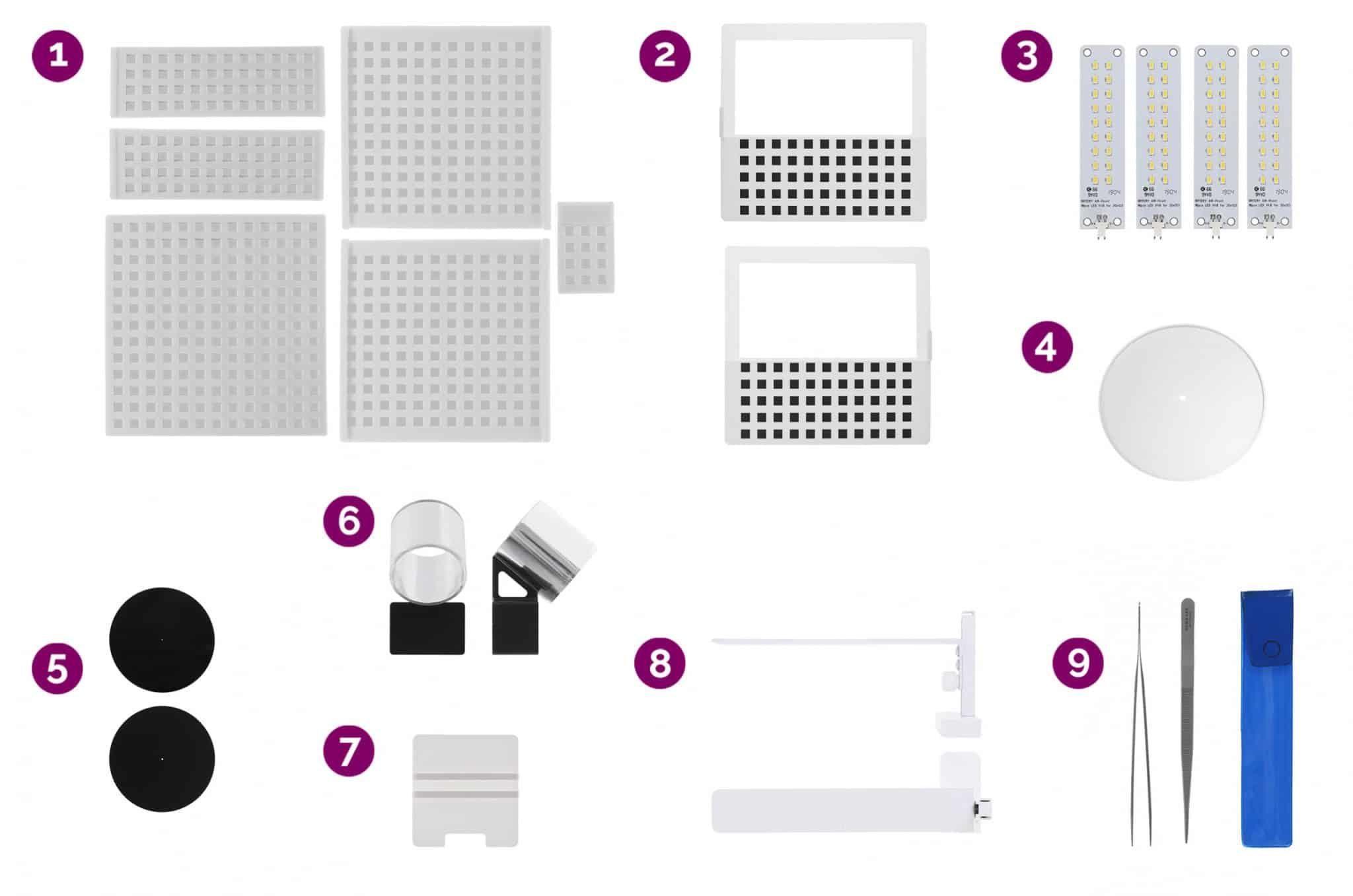 loose diamond kit supplies to create 360 sparkle view